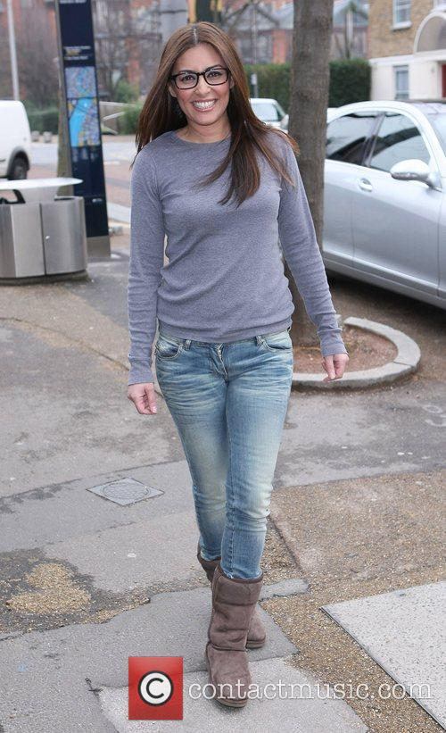 Laila Rouass Celebrities outside the ITV television studios...