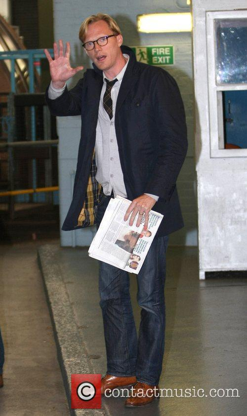 Paul Bettany outside the ITV studios London, England
