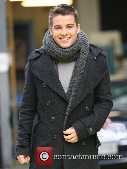 Joe McElderry outside the ITV studios London, England