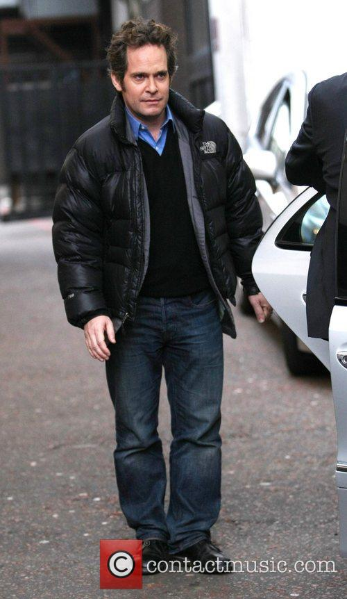 Tom Hollander leaves the ITV studios London, England