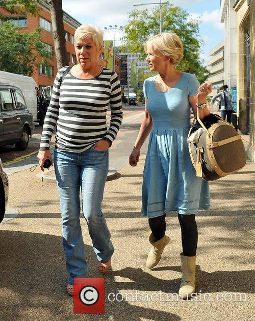 Denise Welch and Lisa Maxwell  outside the...