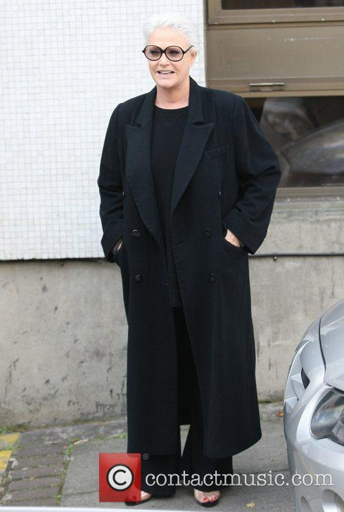 Sharon Gless outside the ITV studios London, England