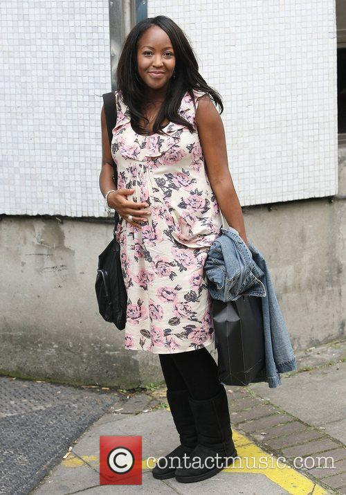 Pregnant Angelica Bell outside the ITV studios London,...