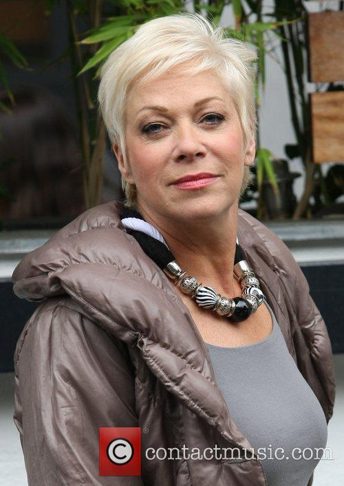 Denise Welch leaves the ITV studios after presenting...
