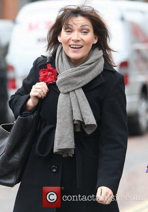 Lorraine Kelly outside the ITV studios London, England