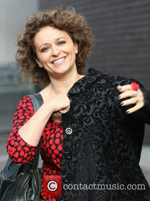 Nadia Sawalha outside the ITV studios London, England