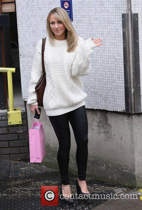 Chloe Madeley outside the ITV studios London, England