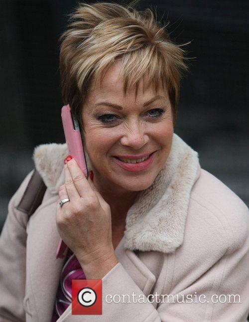 Denise Welch at the ITV studios London, England