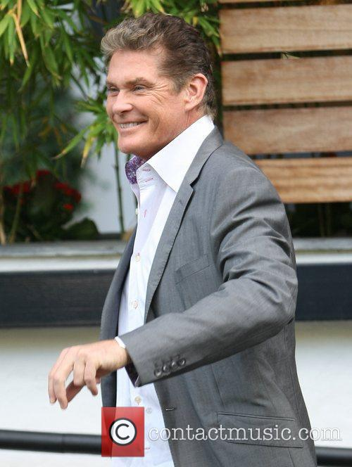 David Hasselhoff outside the ITV studios London, England