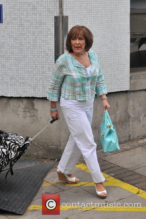 Linda Bellingham Celebrities outside the ITV television studios...
