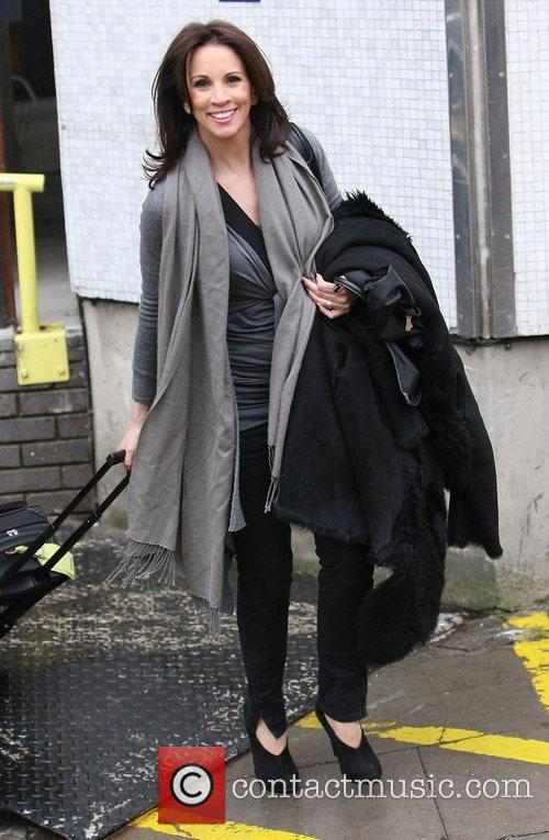 Andrea McLean outside the ITV studios London, England