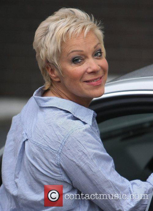 Denise Welch outside the ITV studios London, England