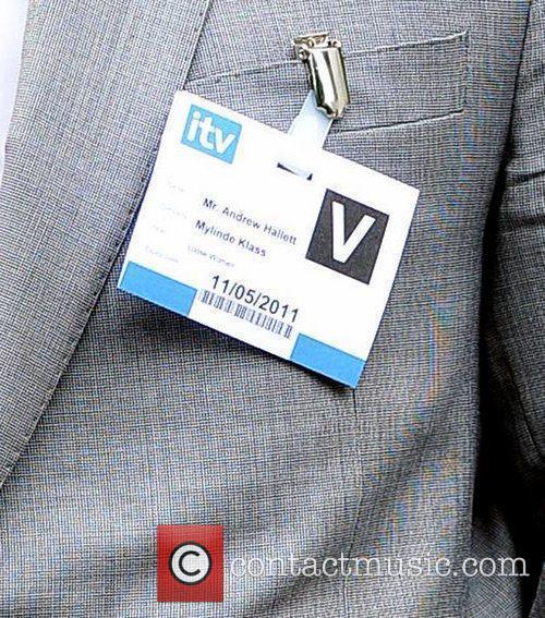 Driver of Myleene Klass wearing an ITV badge...