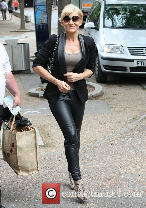Michelle Collins outside the ITV studios London, England