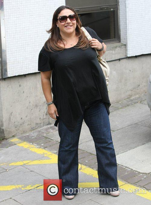 Jo Frost Celebrities outside the ITV television studios...