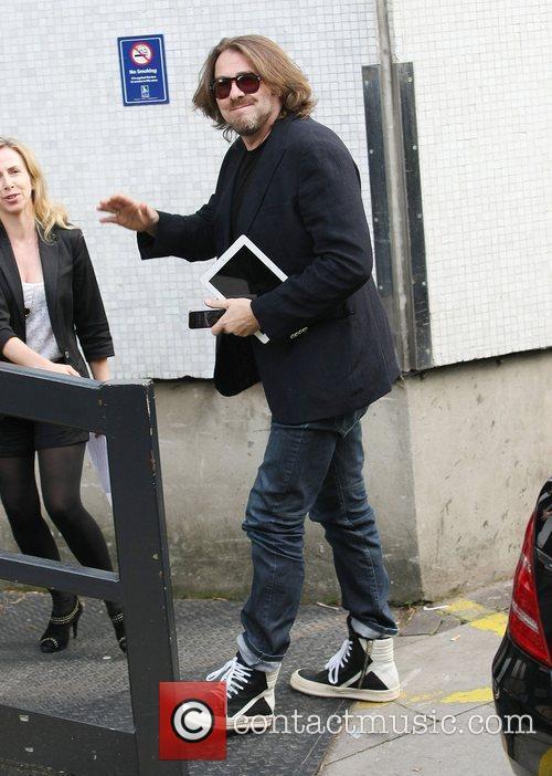 Jonathan Ross outside the ITV studios London, England