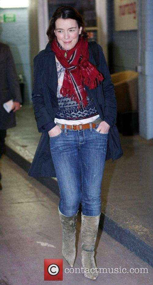 Olivia Williams outside the ITV studios London, England