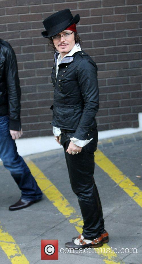 Adam Ant outside the ITV studios London, England