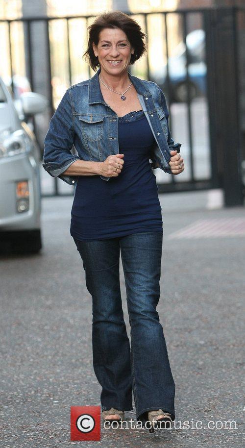 Deena Payne outside the ITV studios London, England
