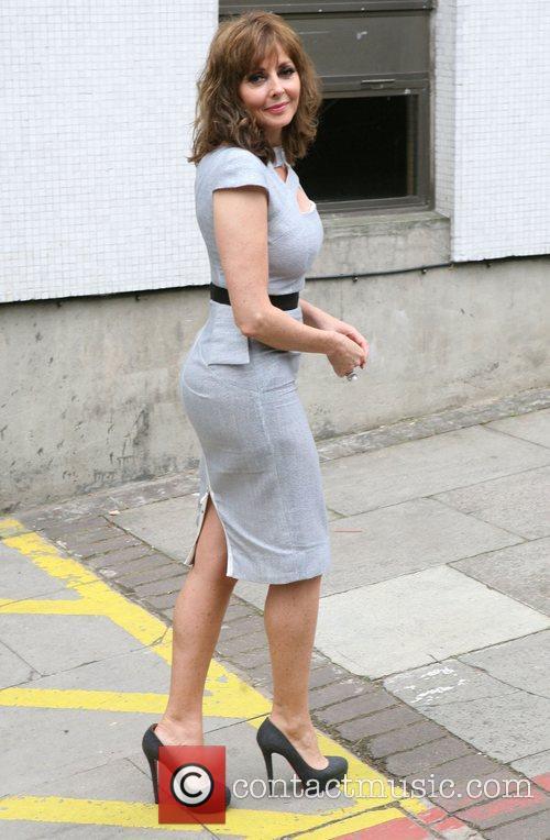 Carol Vorderman leaving the ITV studios London, England