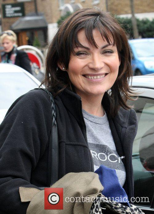 Lorraine Kelly outside the ITV studios London, England