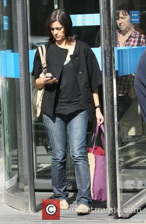 Lucy Verasamy Celebrities outside the ITV television studios...