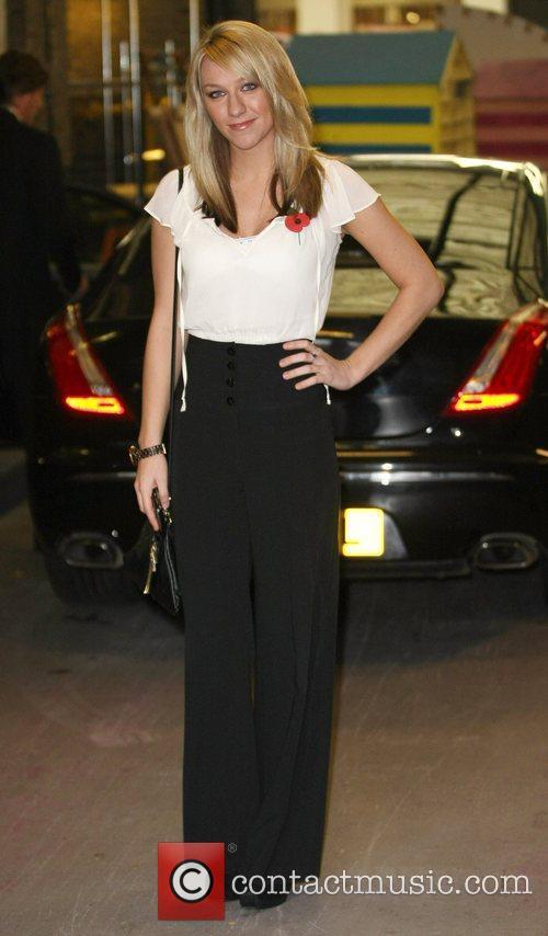 Chloe Madeley outside the ITV studios London, England