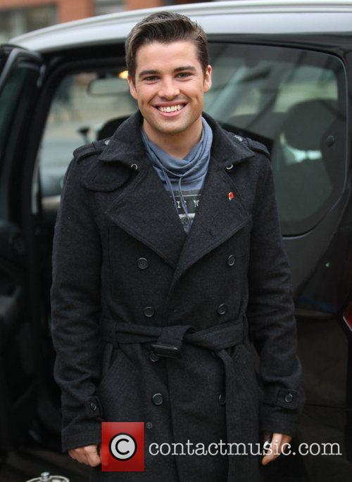 Joe McElderry at the ITV studios London, England