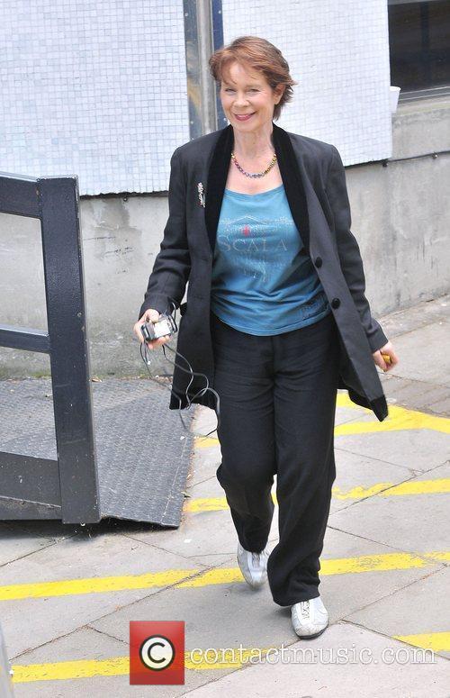 Celia Imrie at the ITV studios London, England