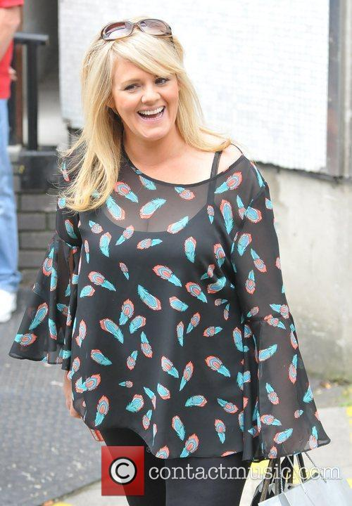 Sally Lindsay Celebrities outside the ITV studios London,...