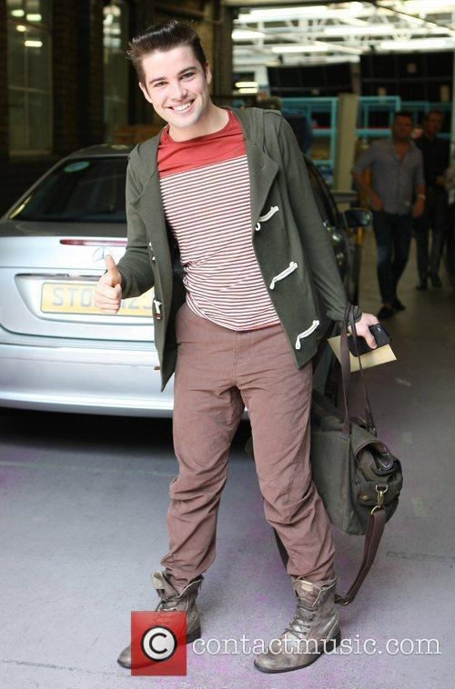 Joe McElderry Celebrities outside the ITV television studios...
