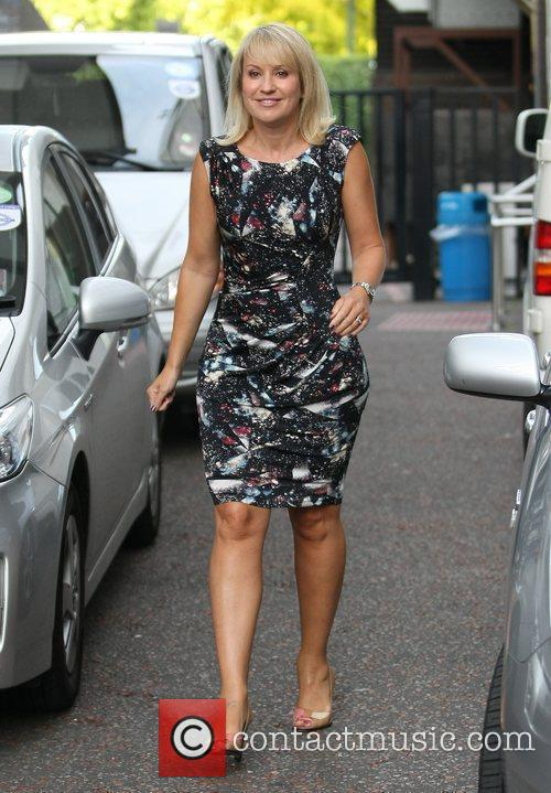 Nicki Chapman Celebrities outside the ITV television studios...