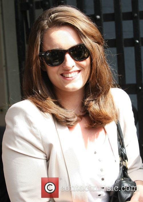 Emily Glenister Celebrities outside the ITV television studios...