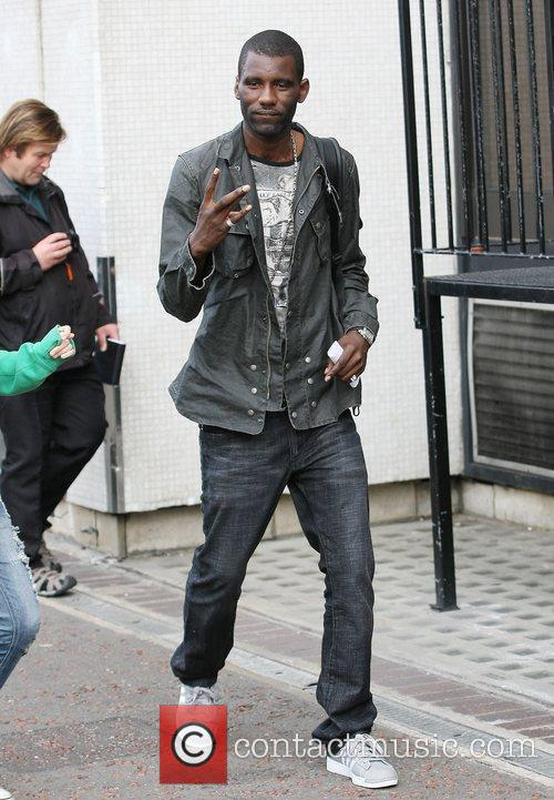 Wretch 32 Celebrities outside the ITV television studios...