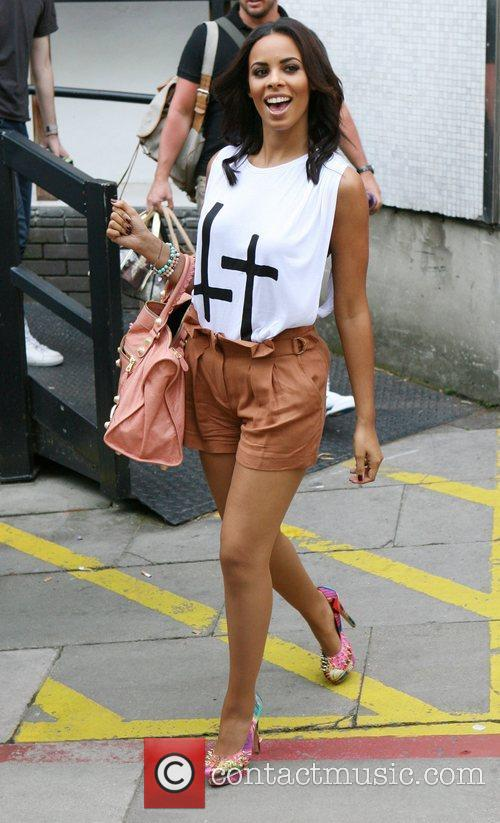 Rochelle Wiseman of The Saturdays outside the ITV...