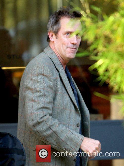 Hugh Laurie outside the ITV studios London, England