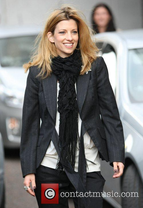 Claire Goose outside the ITV studios London, England