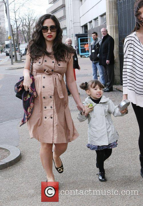 Pregnant Myleene Klass and her daughter Ava...