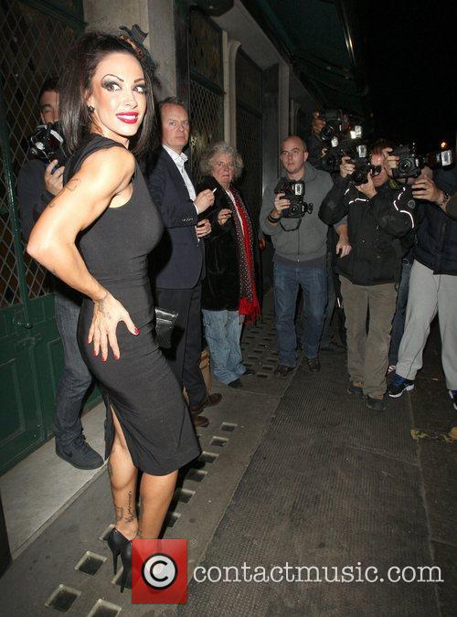 Jodie Marsh leaving the Ivy restaurant