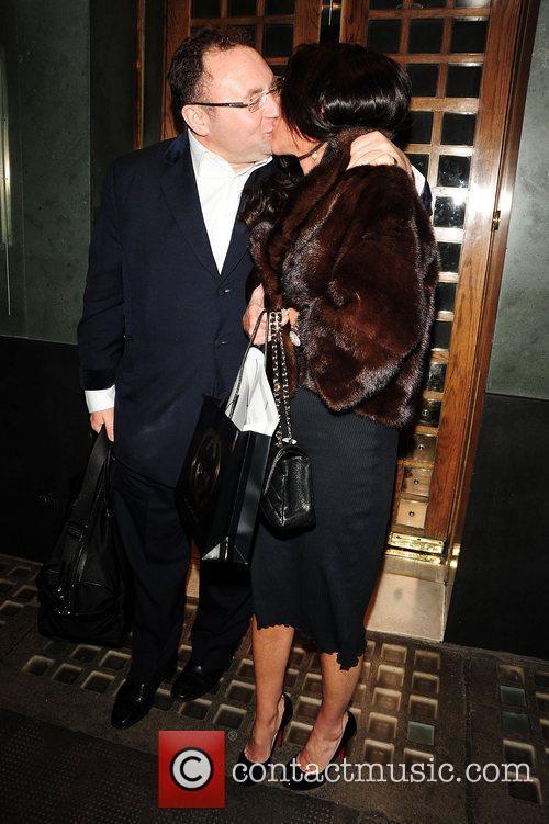 Celebrity agent Jonathan Shalit kisses his wife, Katrina...