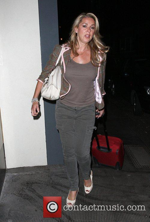 Claire Sweeney arriving at the Ivy Club