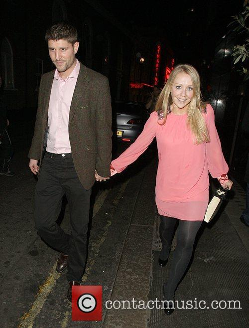 Laura Hamilton leaves the Ivy restaurant in good...