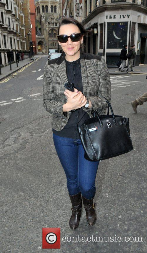Martine McCutcheon outside the Ivy restaurant in the...