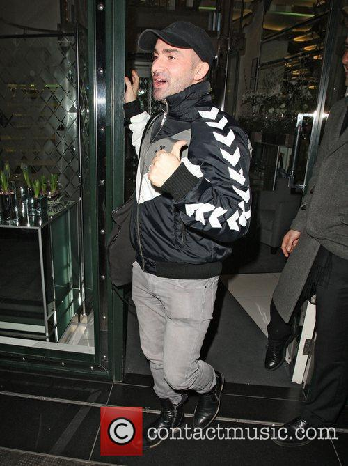 Louie Spence leaves the Ivy Club. London, England