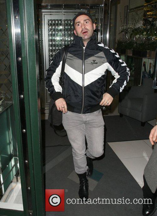 Louie Spence leaves the Ivy Club.