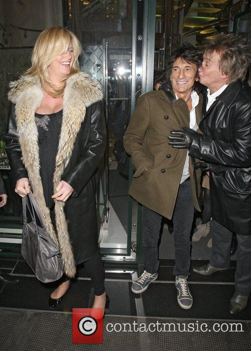 Penny Lancaster, Rod Stewart and Ronnie Wood 1