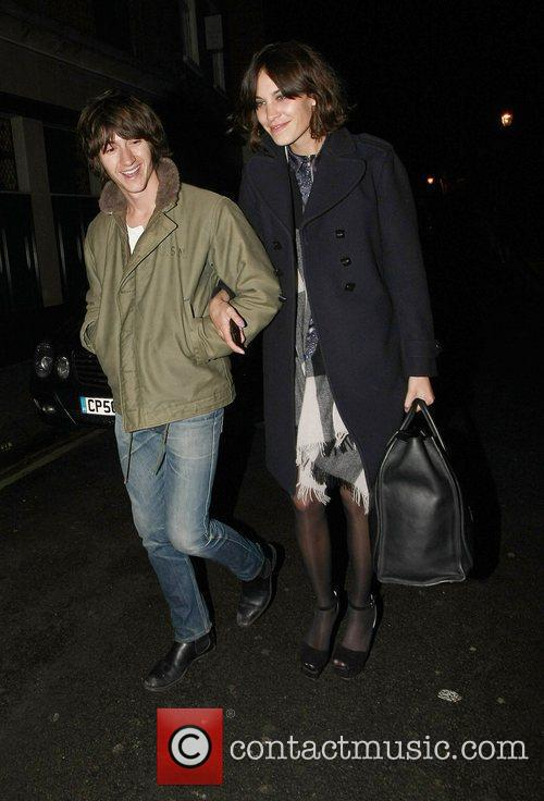 Alex Turner and Alexa Chung Celebrities leave The...