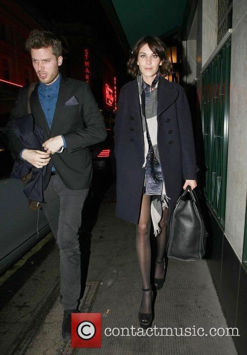 Rick Edwards and Alexa Chung Celebrities leave The...