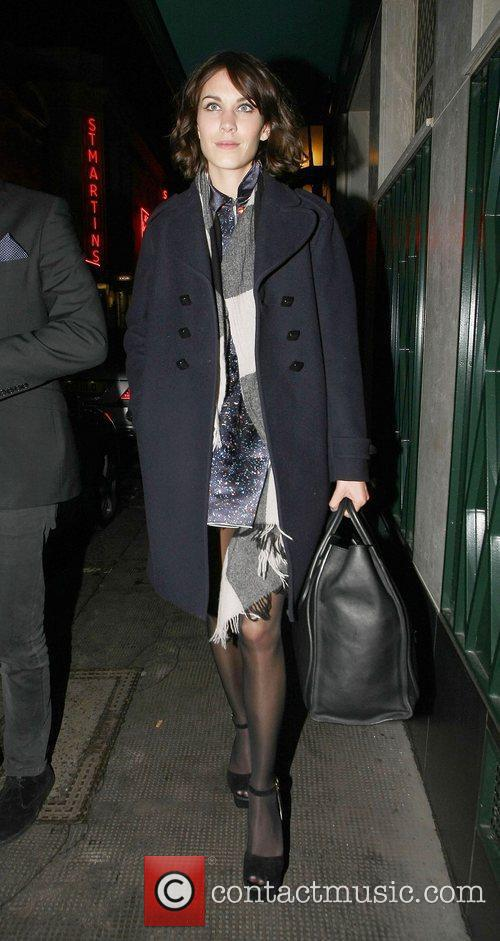 Alexa Chung Celebrities leave The Ivy Club having...