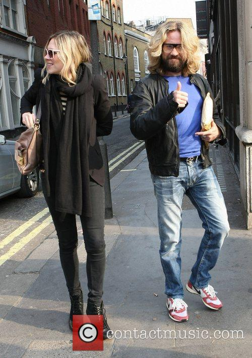 Justin Lee Collins Celebrities outside the Ivy restaurant...